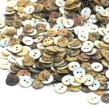 Pack 50 13mm Vintage Mother of Pearl Shell Buttons